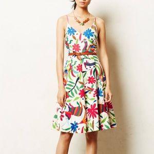 Vanessa Virginia Otomi Folk Art Dress Embroidered